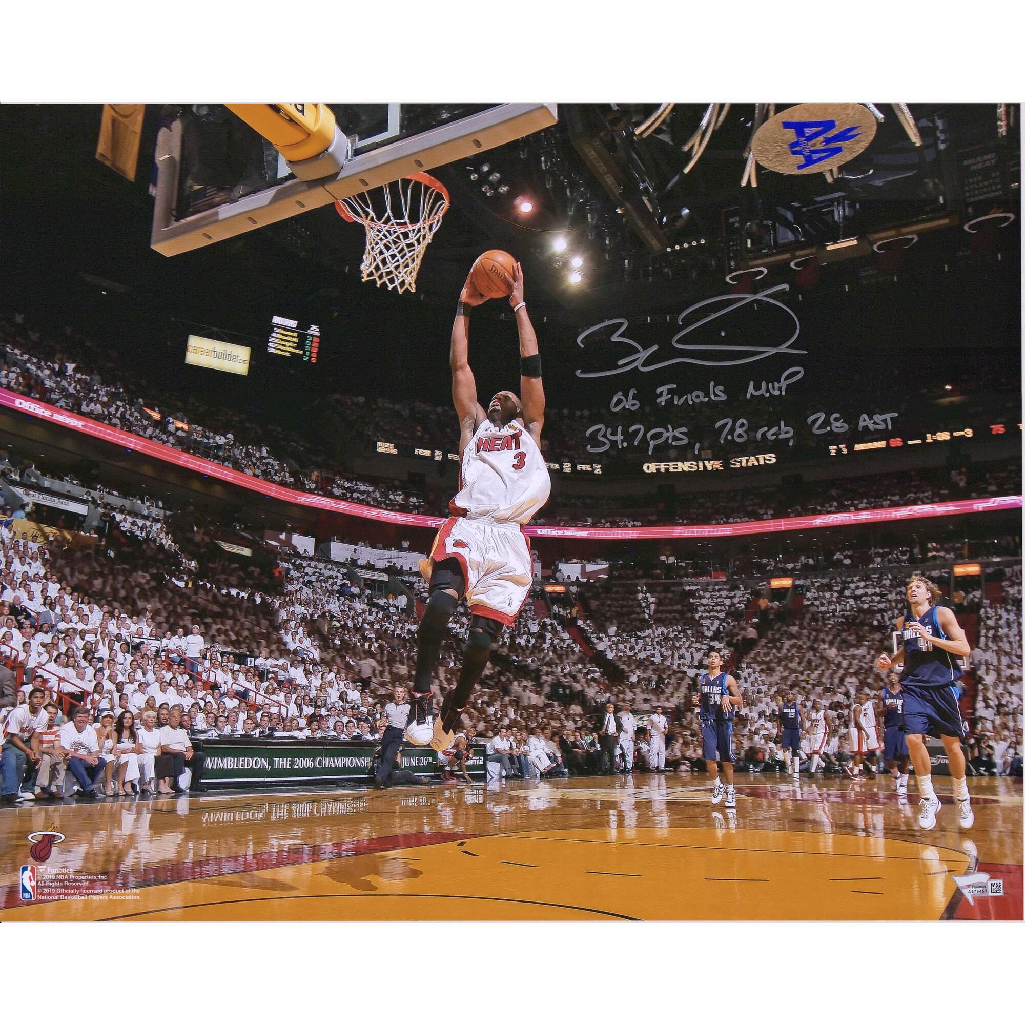 コレクション, サイングッズ  16x20 25 NBA Dwyane Wade Miami Heat Autographed 16x20 Photograph with Multiple Inscriptions - Limited Edition of 25 Fanatics Authentic