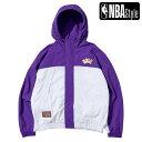 【NBA Style 2021 SS】 HARDWOOD CLASSICS Los Angeles Lakers カラーブロックジャケット / ロサンゼルス・レイカーズ SUPERSALE06・・・