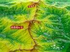 ジオラマ地図 五竜岳・鹿島槍ヶ岳