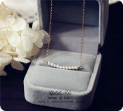 RALULU.SHUハンドメイド14KGFゴールドフィルド6月誕生石ミニ淡水パールベビー真珠ネックレス結婚式パーティーカジュアル春