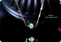 RALULU.SHUハンドメイド14KGFゴールドフィルド宝石質エチオピア産一粒オパールネックレス10月誕生石