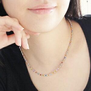 【K18WG】天然カラーサファイア&ダイヤモンドネックレス11ctアップ