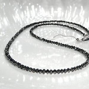 ブラックダイヤモンドネックレス ブラック