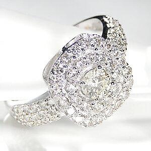 k18WG【1.30ctUP】豪華ダイヤモンドリング