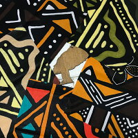ボゴラン風はぎれ5枚セット泥染め風アフリカンプリントハギレカットクロス手芸ハンドメイドゆうパケット送料無料約20センチ約20cm小物アクセサリーパッチワークエスニックアフリカンアフリカンファブリック生地ファブリックインテリア手作りマスク