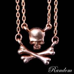 RANDOMランダムプチスカルチャームK10ゴールド2連ネックレス