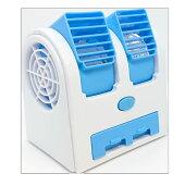 冷風扇デスクトップクーラー卓上扇風機好みの角度に風向きを調整コンパクトオアシス会社オフィス涼しい電池USBUSBケーブル付属納涼風量調節2段階