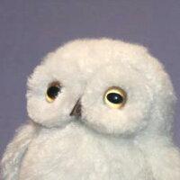白ふくろうフクロウファークラフト社製ぬいぐるみイヌネコクマテディベアギフト毛皮フォックスミンクラム