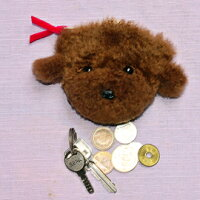 コインケース犬ぬいぐるみプードル小銭入れプードルグッズキーケースコインパース