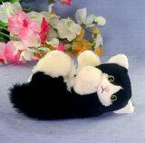 黒ネコ ファークラフト社製 ぬいぐるみ 犬 ネコ パンダ ハンドメード くま リス