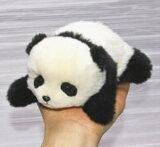 這い型パンダ パンダ ぬいぐるみ 犬 ネコ クマ うさぎ ギフト リアル毛皮 作家手作り品 ハンドメイド 上野動物園
