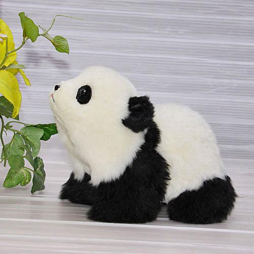 四つ立ちパンダ パンダ ハンドメイド ぬいぐるみ 毛皮 上野動物園 クマ インテリア クリスマスギフト 犬