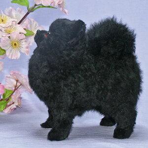 ポメラニアン・ブラックポメラニアンポメラニアン/犬/ぬいぐるみ/ブラックポメラニアン羊の毛皮...