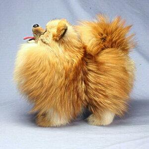ポメラニアンポメラニアン/犬/ぬいぐるみ/特選品毛皮のぬいぐるみ