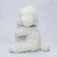 プードルぬいぐるみティーカッププードル55年実績ファークラフト社製ぬいぐるみ作家手作りハンドメイド毛皮ラムプードルイヌ