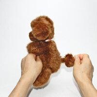 プードルぬいぐるみティーカッププードルファークラフト社製ぬいぐるみプードル毛皮ラムイヌプードルグッズ小物