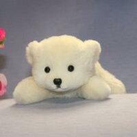 這い型白くまハンドメードオリジナル品作家手作り品54年の実績ファークラフト社製ぬいぐるみクマ毛皮誕生日プレゼントクリスマス