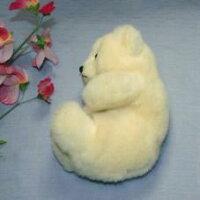 白クマファークラフト社製ぬいぐるみイヌネコクマテディベアギフト毛皮フォックスセーブル清水拓司