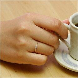 【ラパポート】K18ミルグレイン・ダイヤリング◆フェミニンに仕上がったダイヤモンドジュエリーは、スタックリングとしても大活躍♪【送料無料】【_包装】