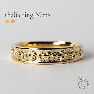"""K18 塔里亞環""""男士""""(對) ◆ 使用只有黃金品質、 古典味環、 男士和 K18 環金屬環戒指 18 支股票在婦女的 18 k 金黃金雙 05P20Nov15"""