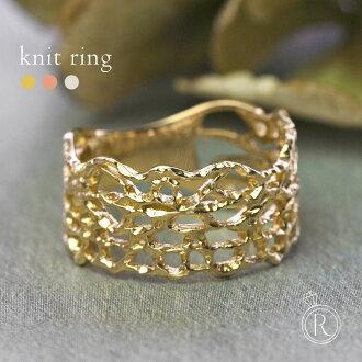 K18 針織 • 金屬環 K18 環金屬響 18 豐富卷的成年婦女招待 18 k 金黃金 0824年樂天卡拆分器 05P01Oct16