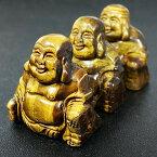 七福神 布袋様(ほてい)タイガーアイ 彫刻(カービング) 置物 天然石 パワーストーン チベット密教 法具