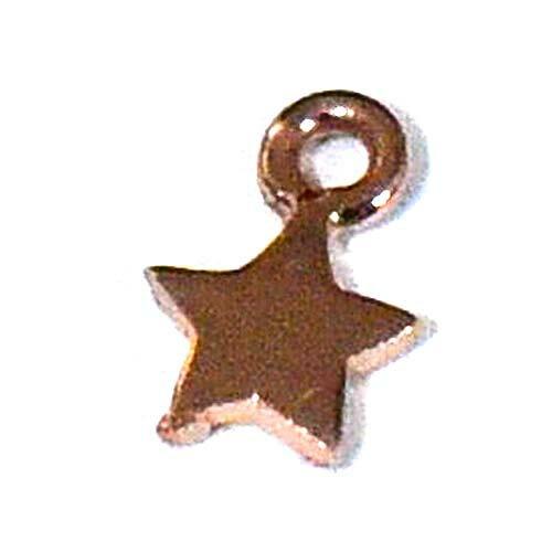 星 スター ピンクゴールド ヴェルメイユ加工 シルバー チャーム 幅:4.5mm|シルバー925【メール便対応可】