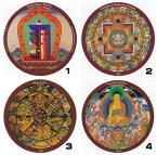 チベット密教ステッカー|曼荼羅|マントラ【メール便対応可】