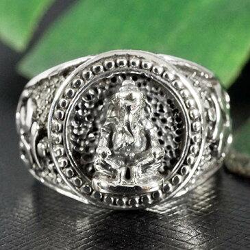 インドの神様 ガネーシャ マントラ オム(OM) 高品質シルバー リング(指輪)|夢をかなえるゾウ|シルバー925|インド神話|ヒンドゥー教|神々|象頭財神【メール便対応可】