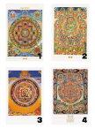 チベット密教ポストカード|曼荼羅|マントラ【メール便対応可】