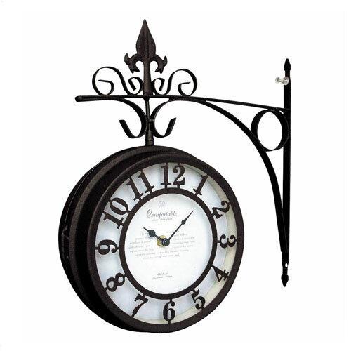 送料無料【OLD STREET BOTHSIDE CLOCK オールドストリート ボスサイドクロック L BR】ギフト 北欧 アンティーク調 両面クロック 壁掛け時計 壁とりつけ おしゃれ デザイン時計 クロック インテリア雑貨 掛け時計 掛時計 時計 壁時計 カントリー雑貨