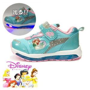 6db1784df814f   Disney ディズニー アリエル 光る 靴 運動靴 7103 サックス  幼稚園 小学生 女の子 子ども 子供