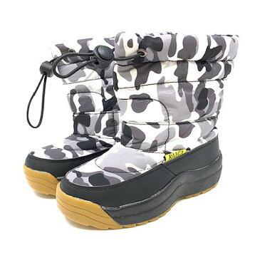 【RAIGA ジュニア スノーブーツ WH/CA 4055-03】ウインターブーツ 防寒 ブーツ 長靴 小学生 中学生 迷彩柄 子ども 子供 キッズ ブーツ 靴 防水 雨 雨具 靴 子ども グッズ レイン 長靴 18cm 19cm 20cm 21cm 22cm 23cm 登山 雪山 中綿