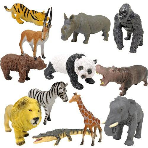 產品詳細資料,|【 ZOO 動物フィギュア 12種 セット 】アニマル ライオン トラ パンダ ゴリラ ゾウ キリ…
