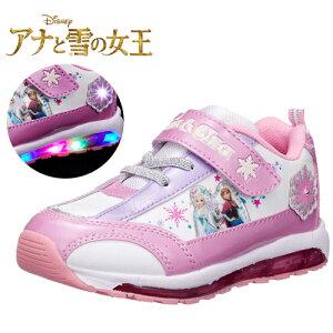 限定【Disney ディズニー アナ雪 光る 靴 7406 】グッズ エルサ 女児 女の子 子ども こども アナと雪の女王 靴 キャラクター シューズ 女児 光る靴 かわいい 点滅 フラッシュ スニーカー 運動靴 アナ雪 15cm 16cm 17cm 18cm 19cm プリンセス