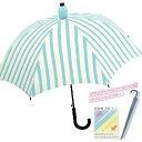 CR【スライド キャップ アンブレラ ストライプ MBL 60cm 傘 31575】雨具 雨傘 可愛