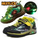 光る靴【BEETLE X カブトムシ キッズ スニーカー】カブト虫 柄 虫 甲虫 かぶとむし 昆虫  ...