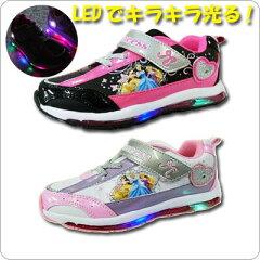 送料540円〜!プリンセスの光る靴!お子様の安全に!【Disney ディズニー プリンセス 光る 運...