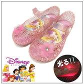 光る靴【 Disney プリンセス 光る ガラスの靴 ピンク 7117 16〜19cm 】フラッシュスニーカー ディズニー 女の子 子ども スニーカー こども ビーチ グッズ 女児 バレエサンダル シューズ 靴 子ども靴 バレエシューズ サンダル パンプス キッズ