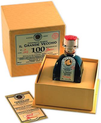 ムッシーニ プレミアムバルサミコ100 グランヴェッキオ 50ml:輸入食材のお店【ラポルティ】