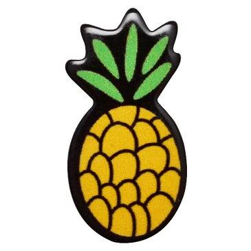 デコパーツ プラパーツ 縦3.3cm×横1.7cm パイナップル フルーツ 果物 ハンドメイド 手芸【メール便可】