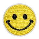 【楽天ランキング受賞】 ワッペン 刺繍 アイロン接着 縦2.8cm×横2.8cm スマイル ニコちゃん アイロンワッペン 手芸 ワッペンデコ ワッペンカスタム マスク用小さいサイズ マスク用小さいサイズ