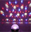 【中古】 LEDマジックボール 5ミックス色 DMX LEDRGB LED ステージライト 舞台照明 カラーミラーボールの様な演出で空間を彩ります。※箱にダメージあります。