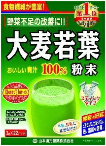 大麦若葉粉末100% スティック 22本[大麦若葉 青汁]