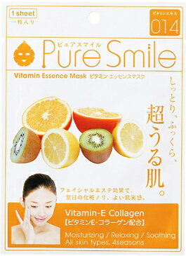 Pure Smileエッセンスマスク ビタミン 1枚[シートマスク 保湿]
