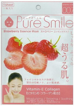 Pure Smileエッセンスマスク ストロベリー 1枚[シートマスク 保湿]