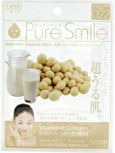 Pure Smileエッセンスマスク イソフラボン 1枚[シートマスク 保湿]