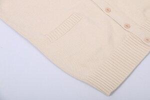 綿100%Vネックニットカーディガンスクールセーター制服