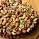 【送料無料】Vivo木の実いっぱいのローチョコレートタルト