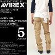 AVIREX (アビレックス アヴィレックス) AVIREX USA BASIC MILITARY CARGO FATIGUE PANTS カーゴパンツ アーミー 迷彩 メンズ 6166110 / 6166111 NEWモデル